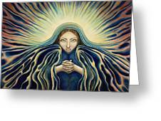 Lady Of Light Greeting Card by Lyn Pacificar
