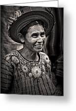 Lady Of Santiago Atitlan Greeting Card