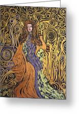 Lady Of Swirl Greeting Card