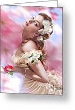 Lady Of The Camellias Greeting Card by Drazenka Kimpel