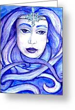 Lady Of The Winter Solstice Greeting Card