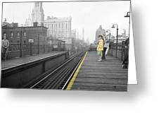 Lady On The El  Greeting Card