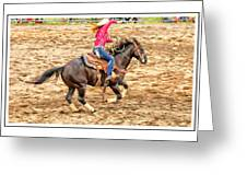 Lady Roping Greeting Card