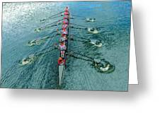 Lady Scullers Greeting Card