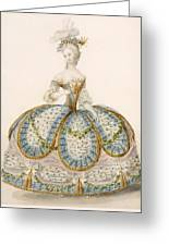 Lady Wearing Dress For A Royal Greeting Card