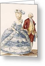 Lady With Her Husband Attending A Court Greeting Card