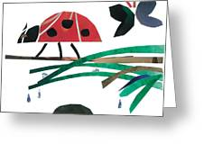 Ladybug Greeting Card by Earl ContehMorgan
