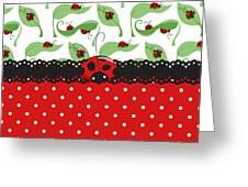 Ladybug Impression Greeting Card