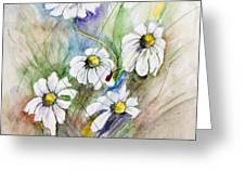 Ladybug On Daisies Greeting Card