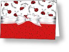 Ladybug Red And White  Greeting Card