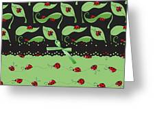 Ladybug Splash Greeting Card