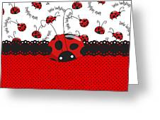 Ladybug Sweet Surprises  Greeting Card