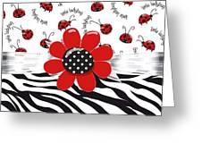Ladybug Wild Thing Greeting Card