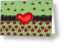 Ladybugs Hearts Desires  Greeting Card