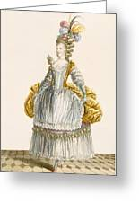 Ladys Ball Gown, Engraved By Dupin Greeting Card