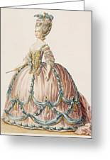 Ladys Gown For The Royal Court Greeting Card