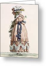 Ladys Summer Walking Gown, Engraved Greeting Card