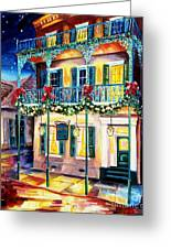 Lafitte Guest House At Christmas Greeting Card