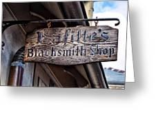 Lafittes Blacksmith Shop Sign Greeting Card