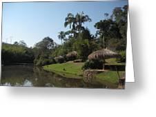 Lago Da Fazenda Greeting Card by Maria Akemi  Otuyama