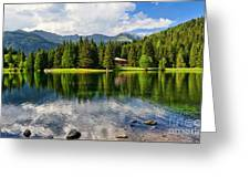 Lago Dei Caprioli - Roe Deer Lake Greeting Card