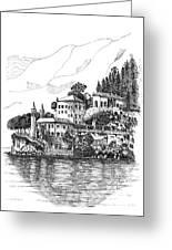 Lago Di Como-lenno - Vila Del Bilbianello Greeting Card