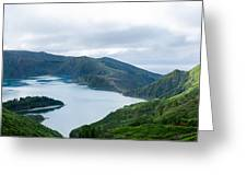 Lagoa Do Fogo Panoramic View Greeting Card