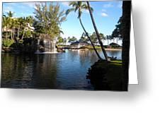 Lagoon Of Hilton Waikoloa Greeting Card