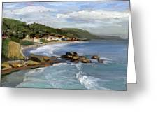 Laguna Beach Greeting Card by Alice Leggett