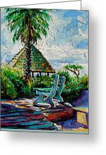 Laguna Beach Bench Greeting Card