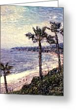 Laguna Beach Palm Vista Greeting Card