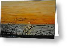 Laguna Madre Sunset Greeting Card