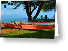 Lahina Maui Canoe Club Greeting Card