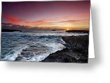 Laie Point Sunrise Greeting Card