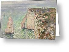 Laiguille And The Porte Daval   Etretat Greeting Card