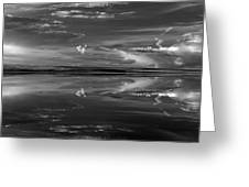 Lake Abert 4 Black And White Greeting Card