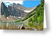 Lake Agnes In Banff Np-alberta Greeting Card
