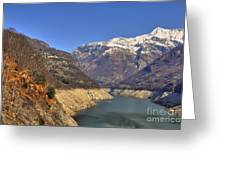 Lake And Snow-capped Mountain Greeting Card
