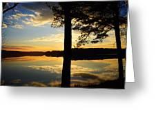 Lake At Sunrise Greeting Card