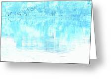 Lake Blue Greeting Card