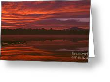 Lake Cassidy Draatic Sunrise Greeting Card