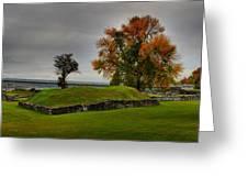Lake Champlain Crown Point Panorama Greeting Card