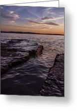 Lake Champlain Sunset Burlington Vermont Oakledge Park Greeting Card