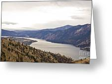 Lake Chelan From Above Greeting Card