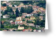 Lake Como Houses Greeting Card
