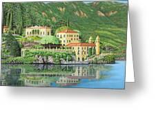 Lake Como Morning Greeting Card