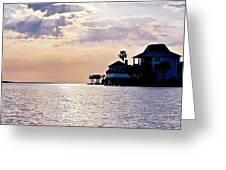 Lake Como On The Gulf Coast Sunset Greeting Card