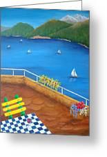 Lake Como Greeting Card by Pamela Allegretto