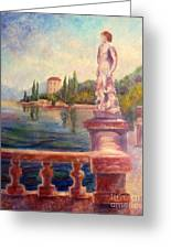 Lake Como View Greeting Card