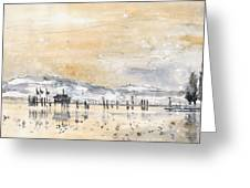 Lake Constance In Winter Greeting Card
